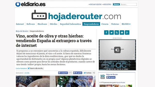 Vendiendo España al extranjero a través de Internet