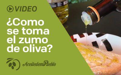 ¿Como se toma el zumo de oliva?